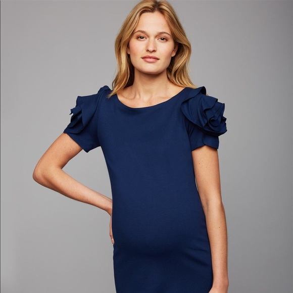 36be39c378b Pietro Brunelli Salisburgo Maternity Dress- Navy